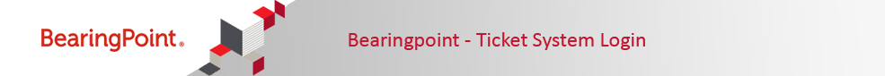 BearingPoint Ticketsystem Login